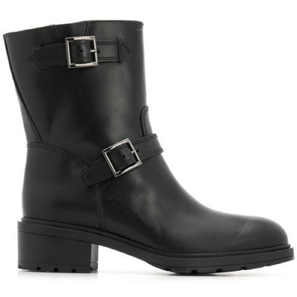 Hogan new buckle biker motorcycle boots leather 40